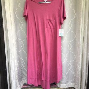 LuLaRoe Dresses - NWT LuLaRoe Carly Dress 2x Pink Leggings